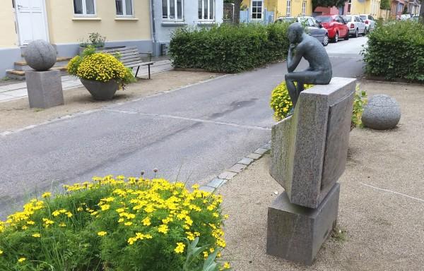 Skulptur i Ole Rømersgade i Aarhus