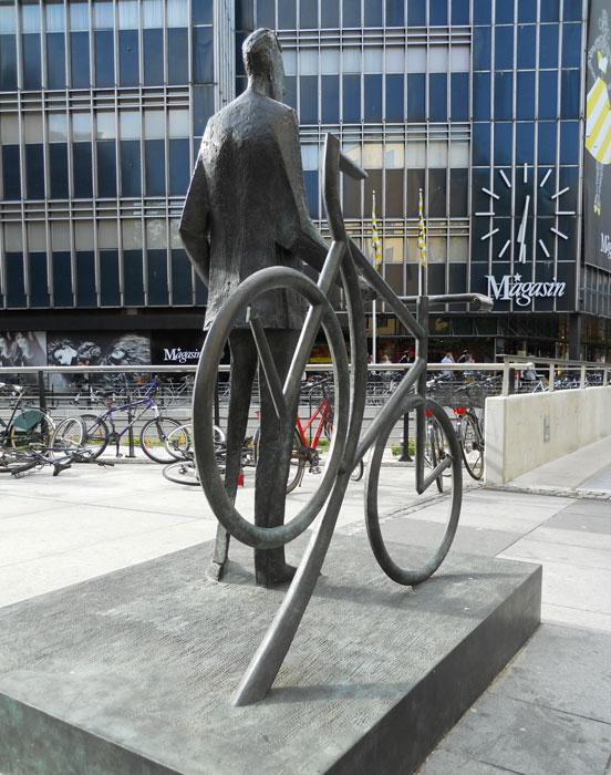 Bernhardt Jensen. Den cyklende Borgmester. Bagfra