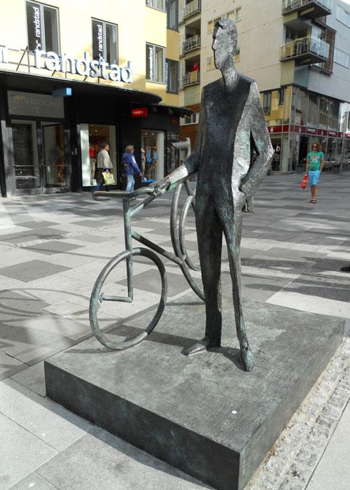 Bernhardt Jensen. Den cyklende Borgmester. forfra