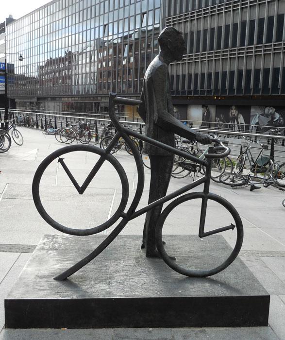 Bernhardt Jensen. Den cyklende Borgmester. Fra siden