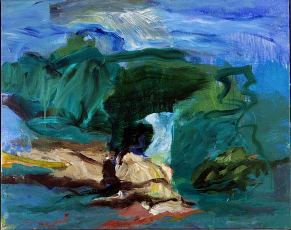 Grøn Sommer. Maleri Kunst