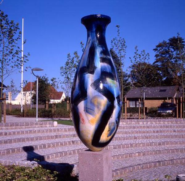 Søjlekrukke - Keramisk skulptur
