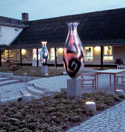 Søjlekrukker - Keramiske skulpturer